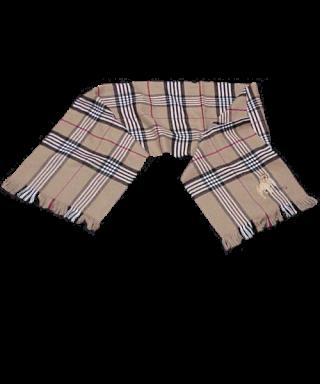 Bufanda bordada cuadro ancho Bulldog