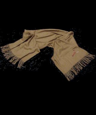 Bufanda lisa con motivo bordado Teckel pelo largo