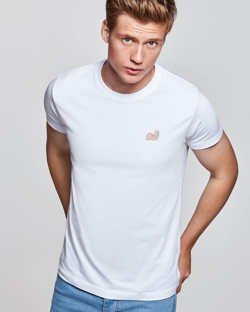 Camiseta manga corta con motivo bordado Lhasa Apso