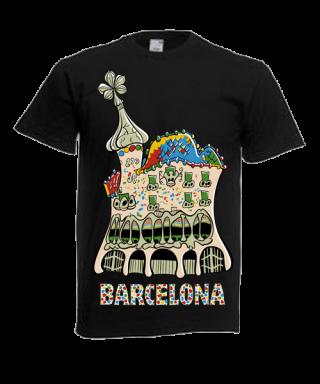 Camiseta Serigrafiada Motivo Casa Vatlló Gaudí