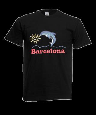 Camiseta bordada Motivo Delfin