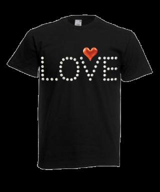 Camiseta pedrería motivo Love