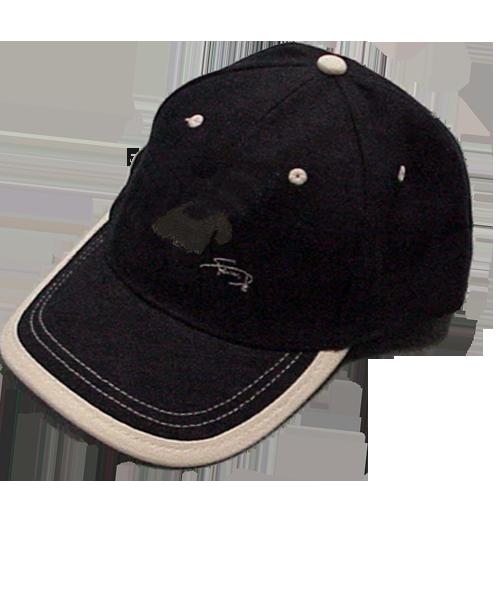 Gorra cerrada con motivo bordado Scottish Terrier