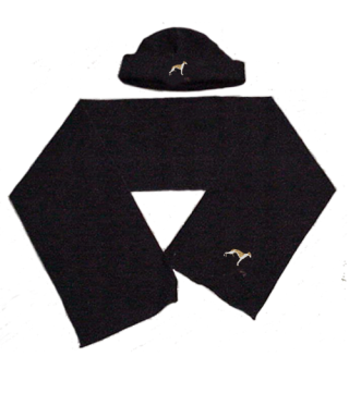Conjunto de Gorra y Bufanda Polar bordado West Highland Terrie