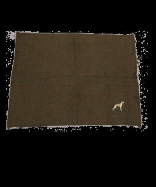 Manta de viaje bordada color verde West Highland Terrier